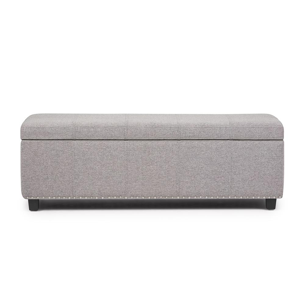 Kingsley Cloud Grey Large Storage Ottoman Bench