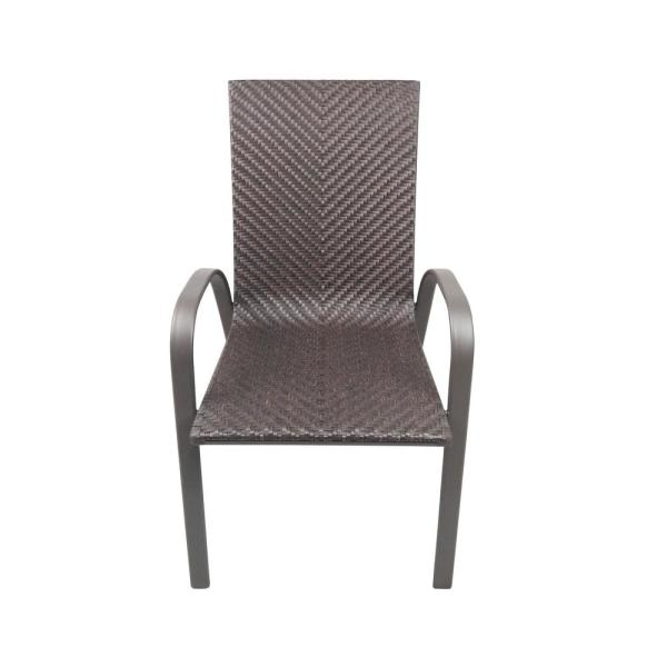 Hampton Bay Stacking Wicker Outdoor Patio Dining Chair Frn 103171 The Home Depot