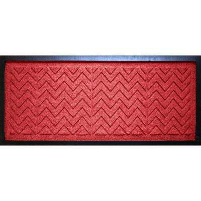Solid Red 15 in. x 36 in. x 0.5 in. Chevron Boot Tray