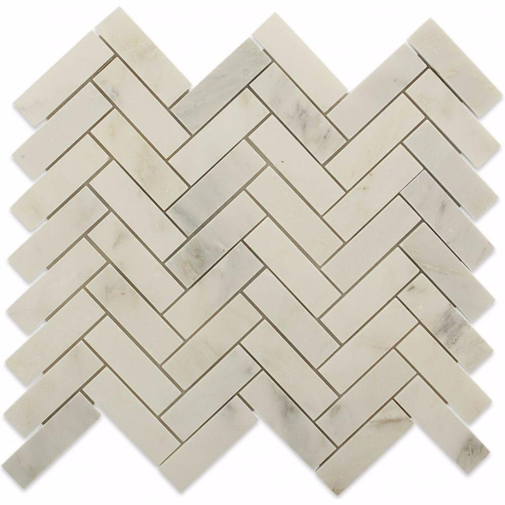 Splashback Tile Oriental Sculpture Herringbone 12 in. x 12 in. x 8 ...