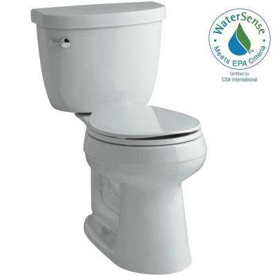 Cimarron Comfort Height 2-piece 1.28 GPF Round Toilet with AquaPiston Flush Technology in Ice Grey