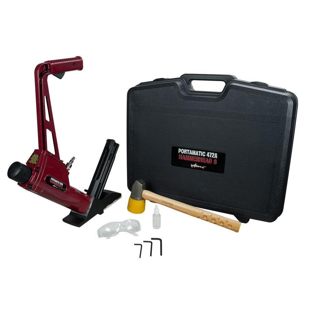 15.5-Gauge Portamatic-S Pneumatic Flooring Stapler with Case