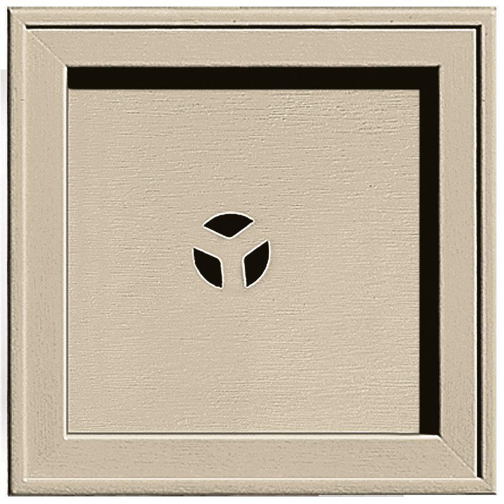 Builders Edge 7.75 in. x 7.75 in. #011 Sandalwood Recessed Square Mounting Block