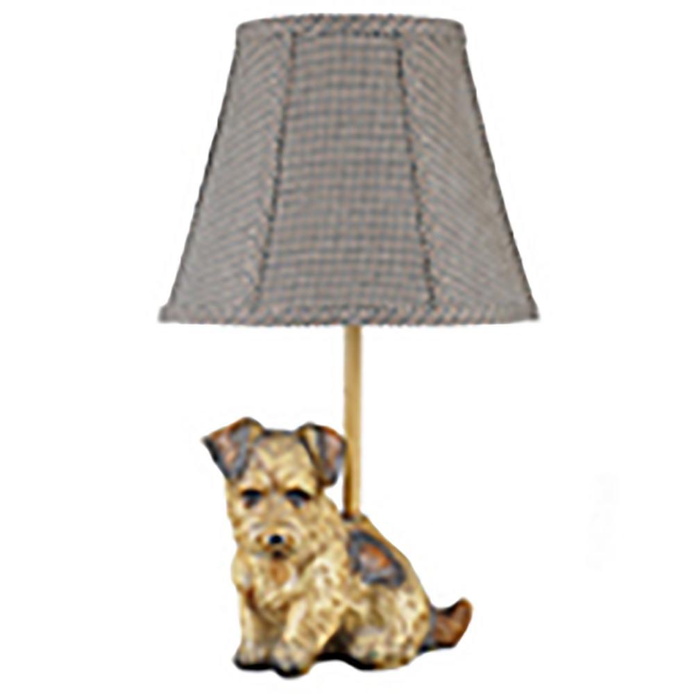 16 in. Light Brown Novelty Lamp