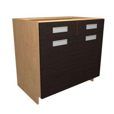Genoa Ready to Assemble 36 x 34.5 x 24 in. Base Cabinet with 2 Soft Close Doors and 1 Soft Close Drawer in Twilight