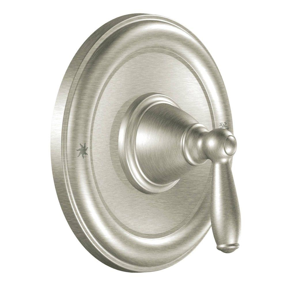 MOEN Brantford 1-Handle Posi-Temp Valve Trim Kit in Brushed Nickel (Valve Not Included)
