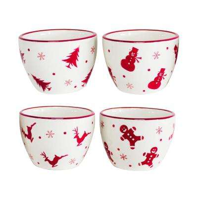 Winterfest 4-Piece Dipping Bowl Set