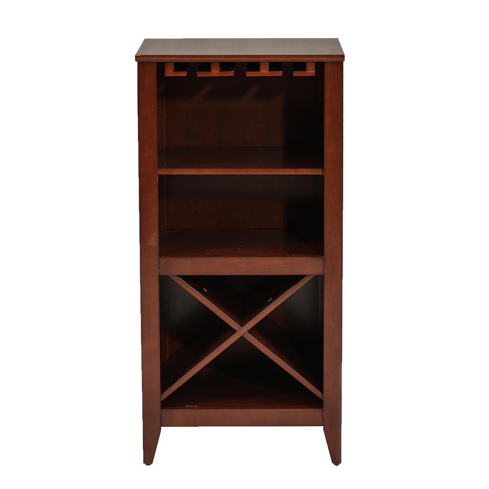 12-Bottle Walnut Wine Cabinet