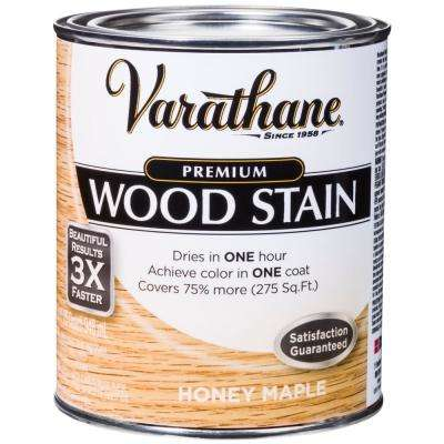 1 qt. Honey Maple Premium Fast Dry Interior Wood Stain (2-Pack)