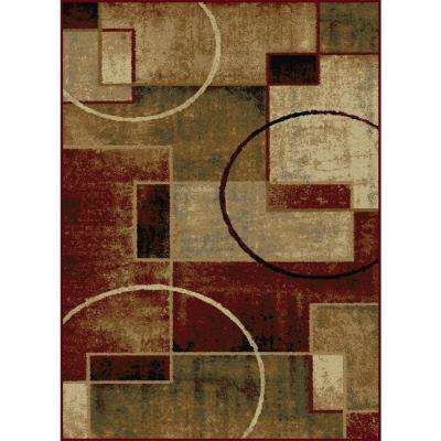 Festival Multi 7 ft. 10 in. x 10 ft. 3 in. Contemporary Area Rug
