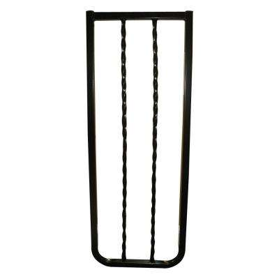 10-1/2 in. Extension for Black Wrought Iron Decor Gate