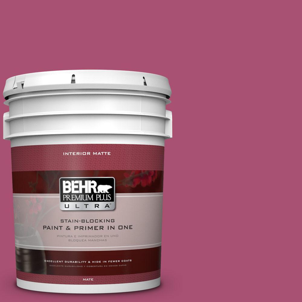 BEHR Premium Plus Ultra 5 gal. #110B-6 Cran Brook Flat/Matte Interior Paint