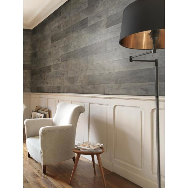 Wainscoting Accent Wall: Grosfillex Element Wood 1/4 In. X 6 In. X 48 In. Grey