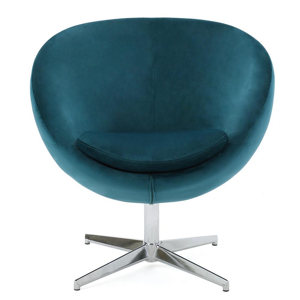 Isla Dark Teal Velvet Modern Chair