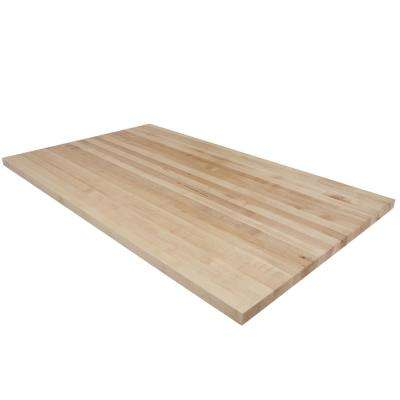 5 ft. L x 3 ft. D x 1.5 in. T Butcher Block Countertop in Finished Maple