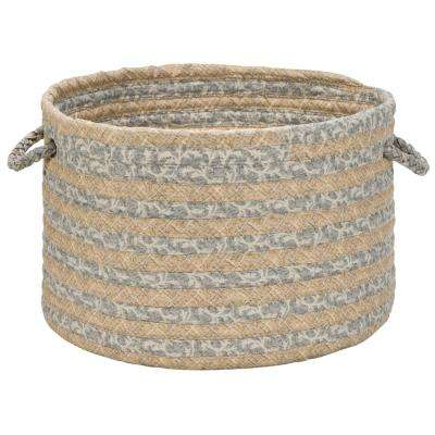 14 in. x 14 in. x 10 in. Gold Soft Corded Round Fabric Basket