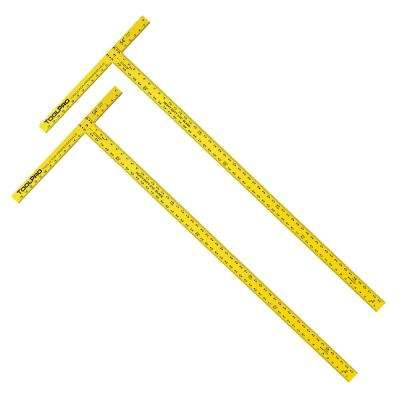54 in. Drywall Square Heavy Duty 3/16 in. Thick Blade in Yellow (2-Pack)