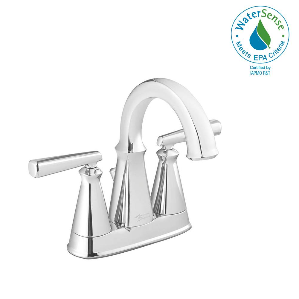American Standard Edgemere 4 in. Centerset 2-Handle Bathroom Faucet ...