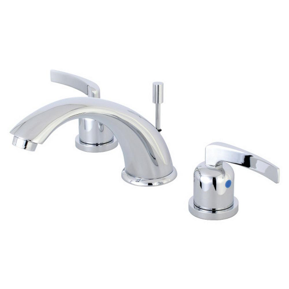Kingston Brass Centurion 8 in. Widespread 2-Handle Bathroom Faucet in Polished Chrome