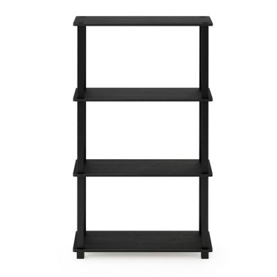 Black Particle Board Open Back Bookcases Home Office