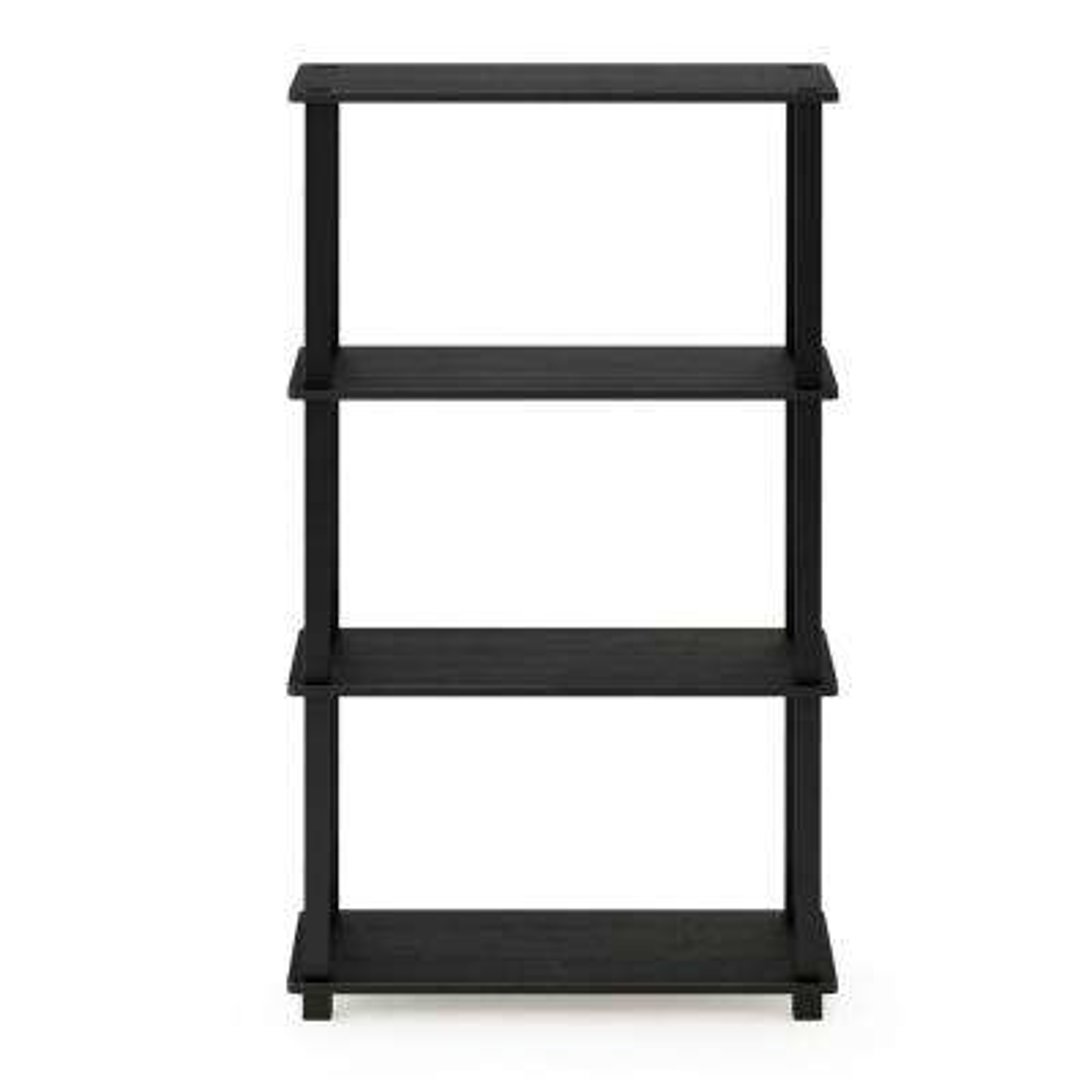 Turn-S-Tube Americano/Black 4-Tier Multipurpose Shelf Display Rack with Square Tube