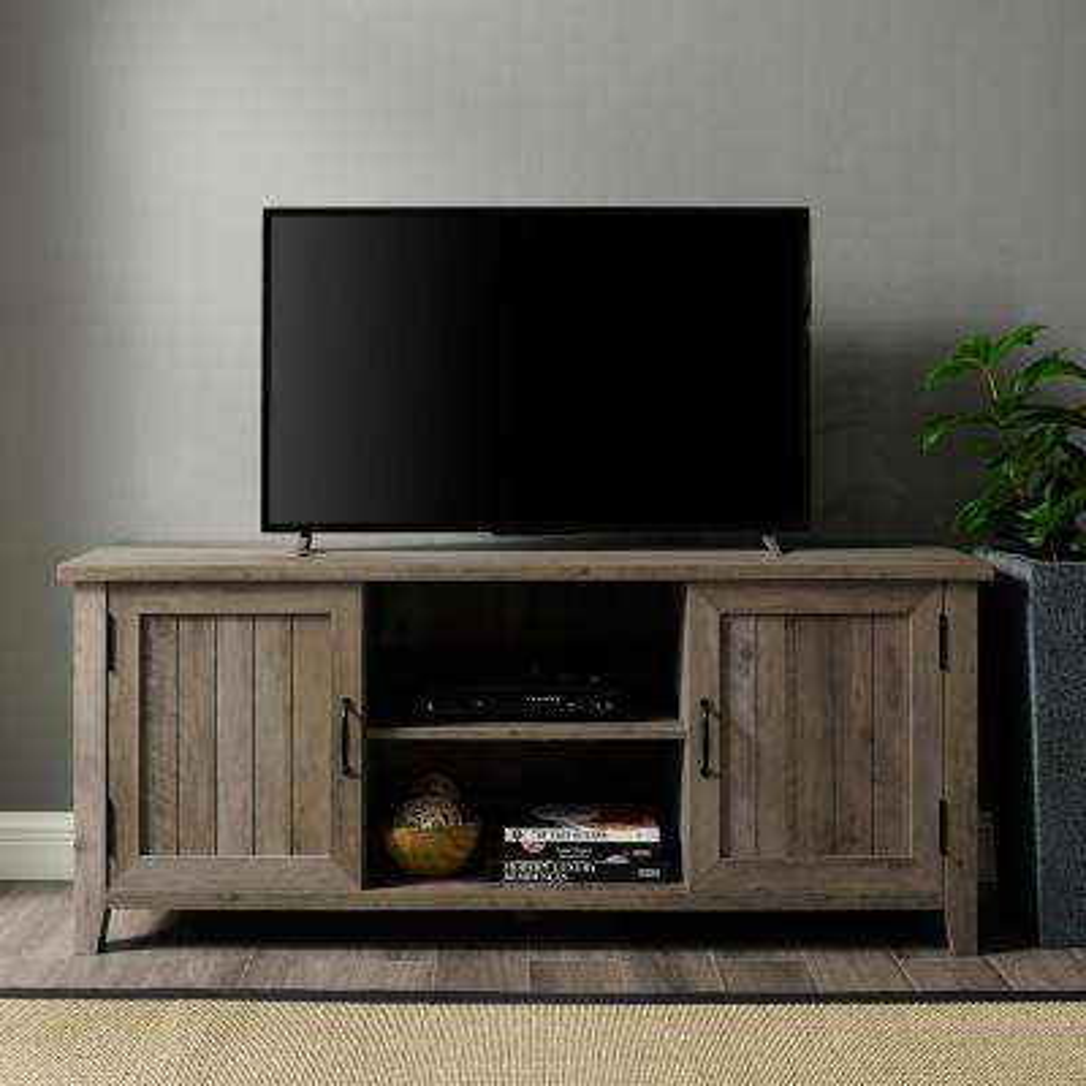 58 in. Grey Wash Modern Farmhouse TV Stand