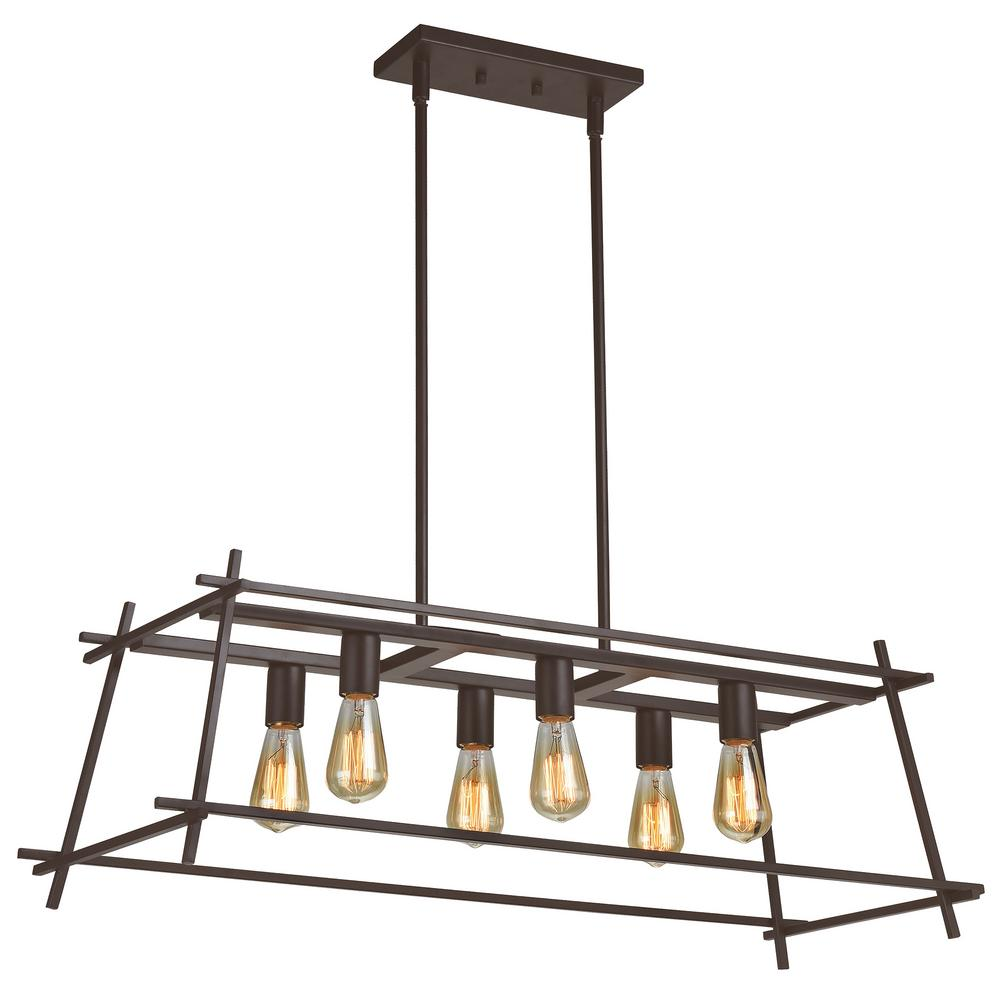 Varaluz Hashtag 6-Light New Bronze Linear Pendant