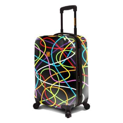 Black Scribblz 22 in. Expandable Carry-On Spinner Luggage