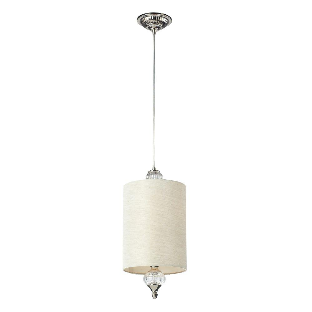 Dalton 1-Light Polished Nickel Ceiling Pendant