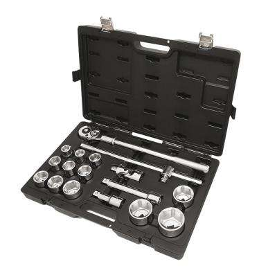 3/4 in. Drive Metric Socket Set with Ratchet (17-Piece)