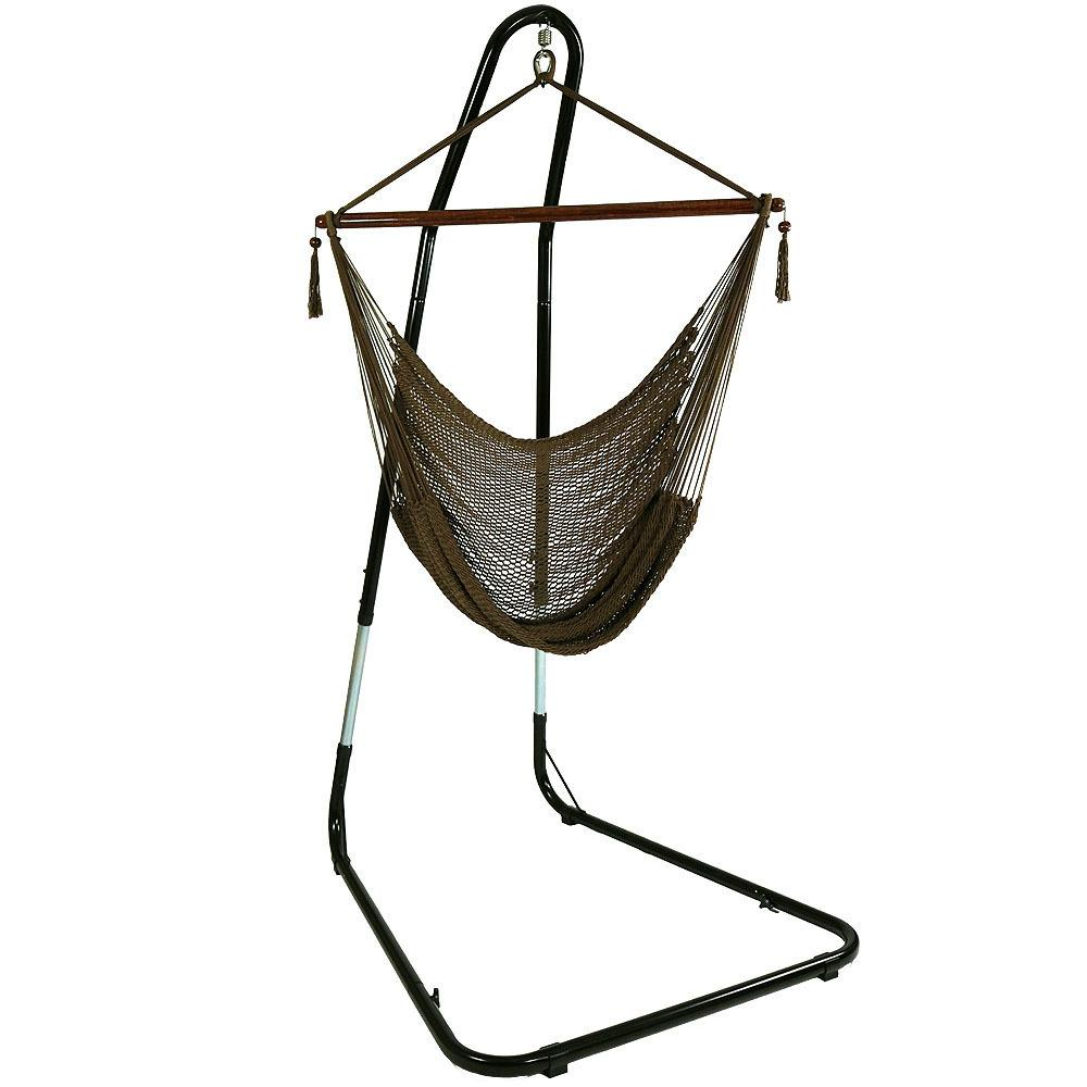 Sunnydaze Decor 4 Ft Hanging Caribbean Xl Hammock Chair With