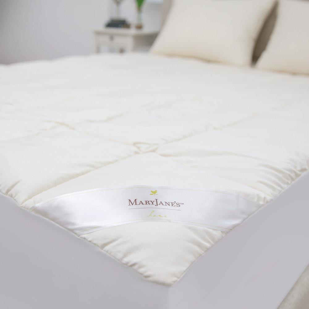 Mary Jane S Home 300 Thread Count Organic Cotton Full Bio Based Polyester Blend Mattress Pad