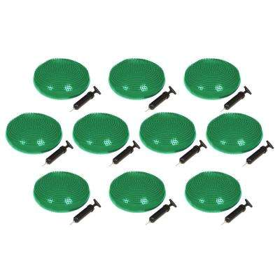 13 in. Dia PVC Fitness and Balance Disc, Green (Set of 10)