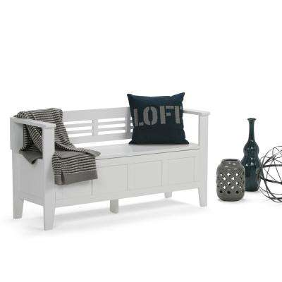 Adams White Storage  Bench