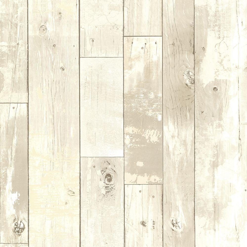 Brewster ashwile taupe wood wallpaper 2686 20283 the for Brewster wallcovering wood panels mural