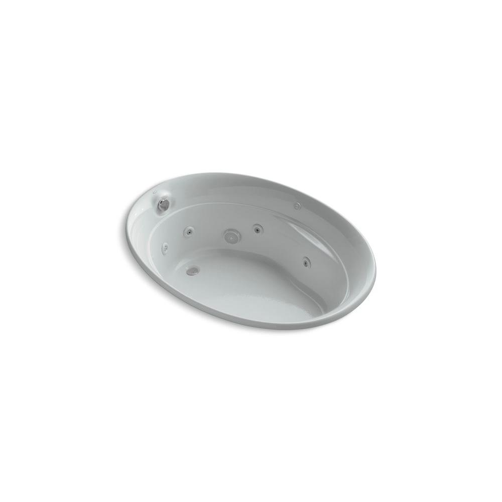 KOHLER Serif 5 ft. Whirlpool Tub in Ice Grey-DISCONTINUED