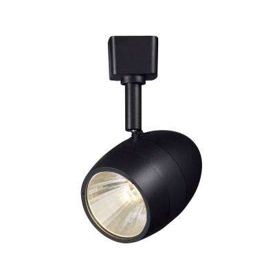2.56 in. 1-Light Black Dimmable Integrated LED Track Lighting Head