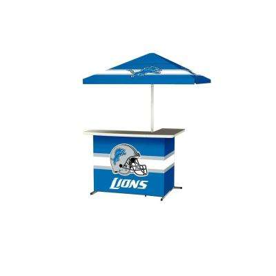 Detroit Lions All-Weather L-Shaped Patio Bar with 6 ft. Umbrella