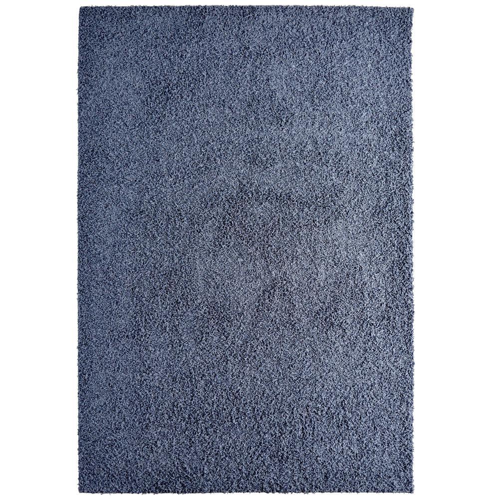 Custom Shag Indigo Blue 6 ft. x 8 ft. Indoor Area Rug