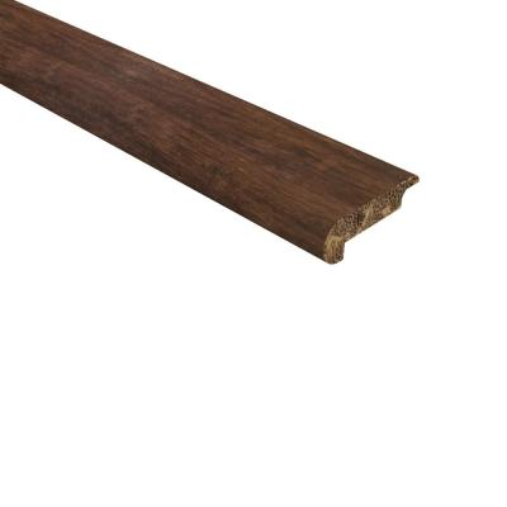 Bamboo Stair Nose Molding Bullnose Molding 6 Long 1, Horizontal Grain - Natural Color