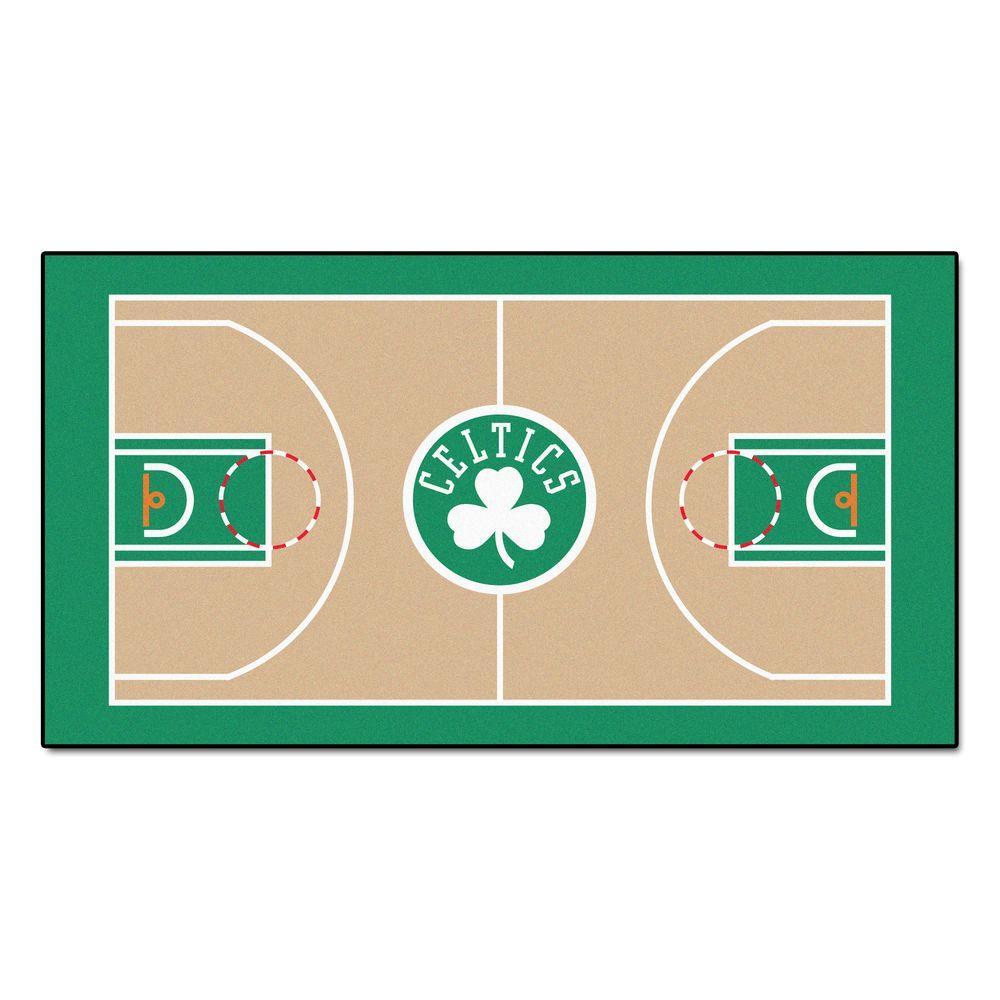 NBA Boston Celtics 3 ft. x 5 ft. Large Court Runner Rug