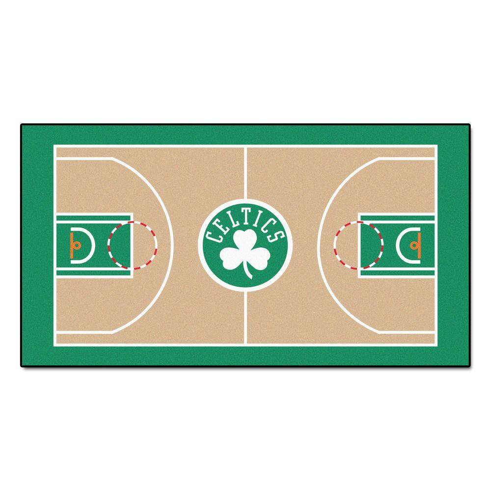 Houston Rockets X Golden State Warriors: FANMATS NBA Boston Celtics 2 Ft. 6 In. X 4 Ft. 6 In. Large