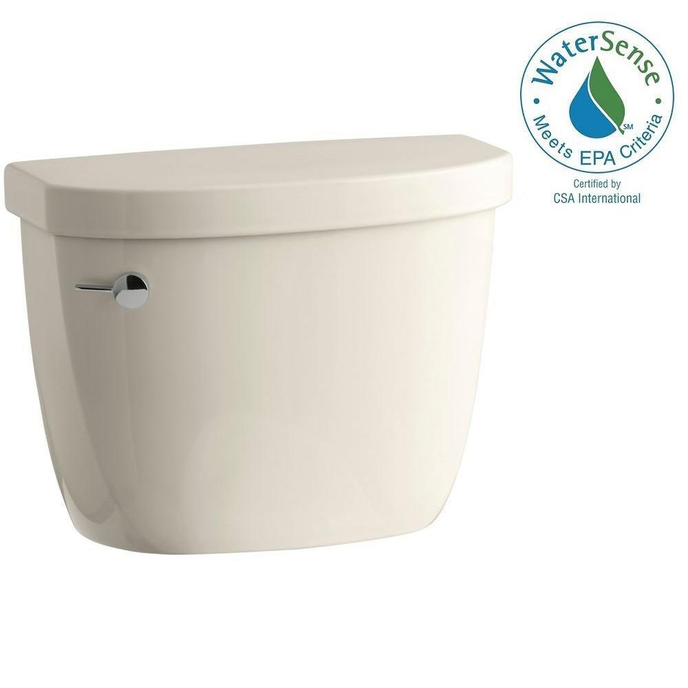 KOHLER Cimarron 1.28 GPF Single Flush Toilet Tank Only with AquaPiston Flushing Technology in Almond