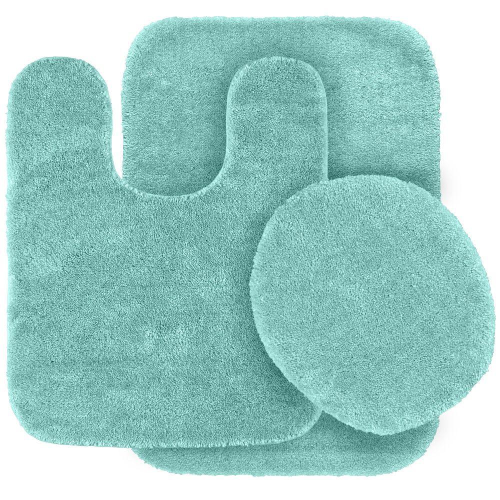 Bathroom Rugs And Accessories Youtube: Sea Foam Green Bath Mat Washable Bathroom 3 Piece Toilet