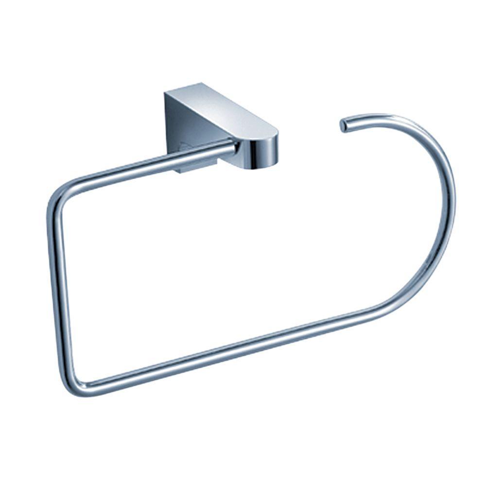Generoso Brass Towel Ring in Chrome