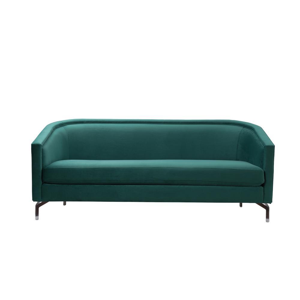 Sandy Wilson Evergreen Green Cabriole Sofa