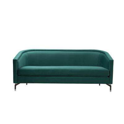 Annette Evergreen Cabriole Sofa