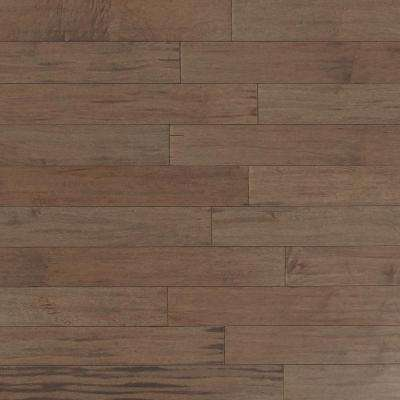 Take Home Sample​ - Scraped Maple Tranquil Fog Solid Hardwood Flooring - 5 in. x 7 in.