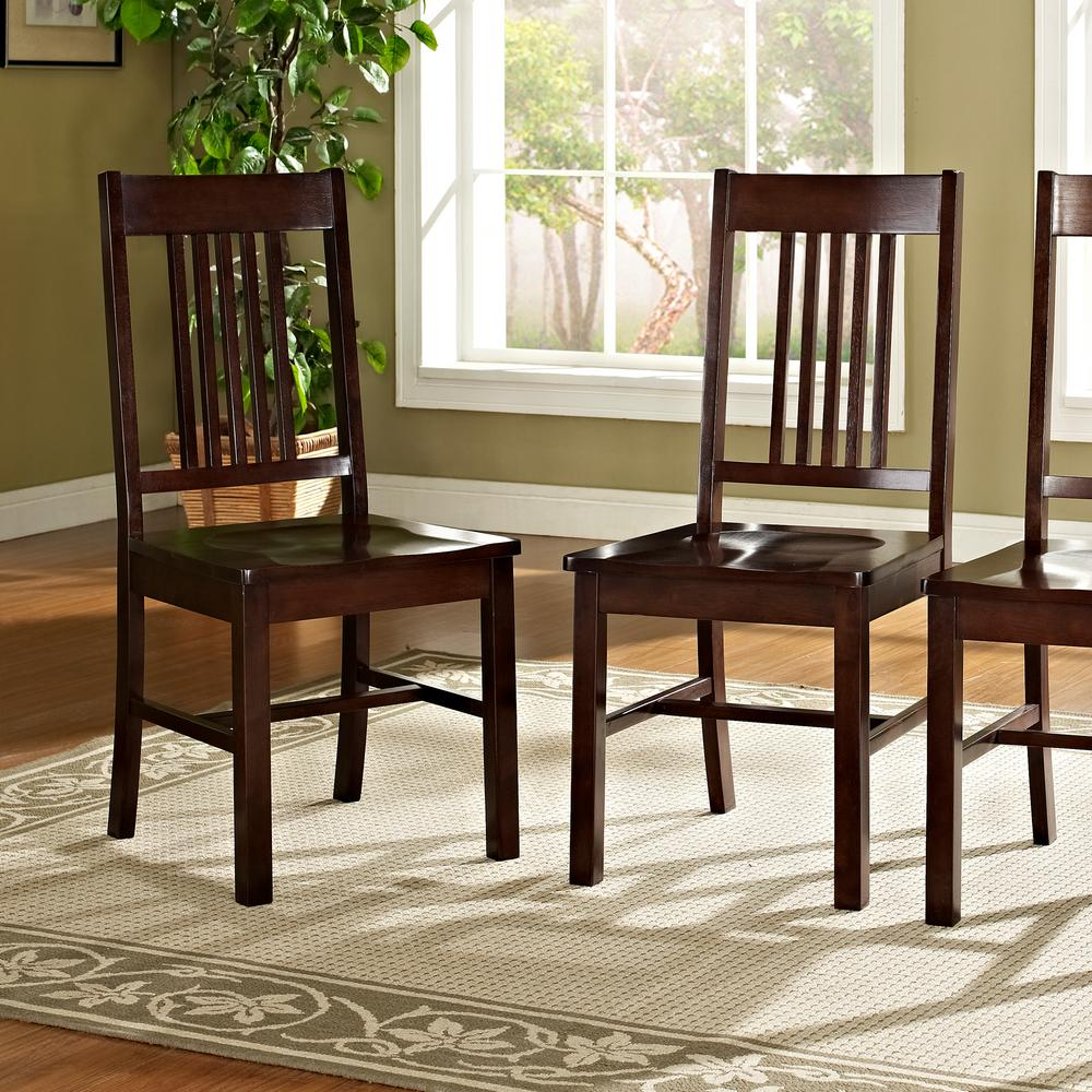 Walker Edison Furniture Company Meridian Cappuccino Wood Dining Chair  Set  of 2. Walker Edison Furniture Company Meridian Cappuccino Wood Dining