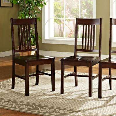 Meridian Cappuccino Wood Dining Chair (Set of 2)